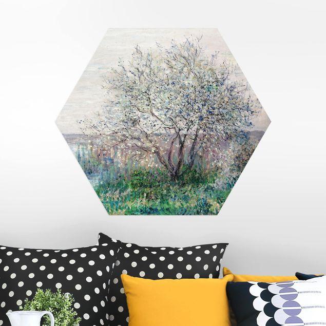 Hexagon Bild Alu-Dibond - Claude Monet - Frühlingsstimmung