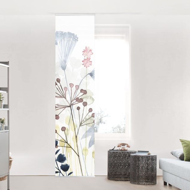 Schiebegardinen Set - Wildblumen Aquarell I - Flächenvorhang