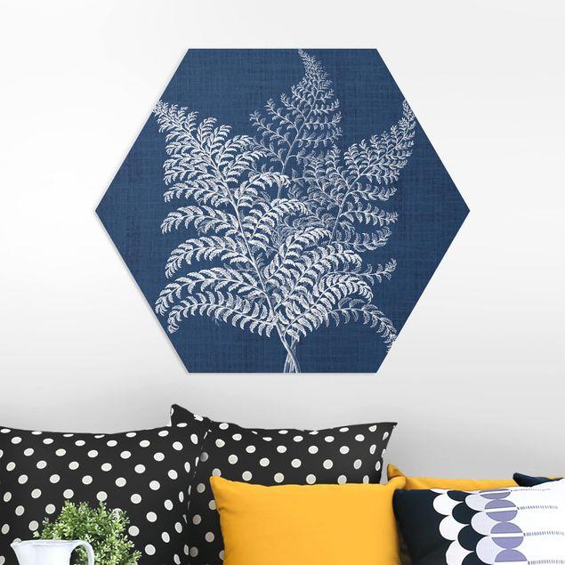 Hexagon Bild Forex - Denim Pflanzenstudie VI