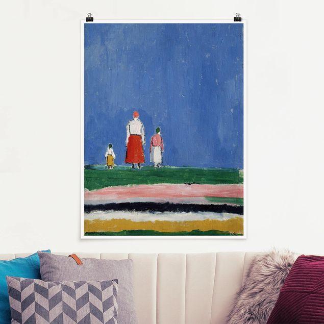 Poster - Kasimir Malewitsch - Drei Figuren - Hochformat 3:4
