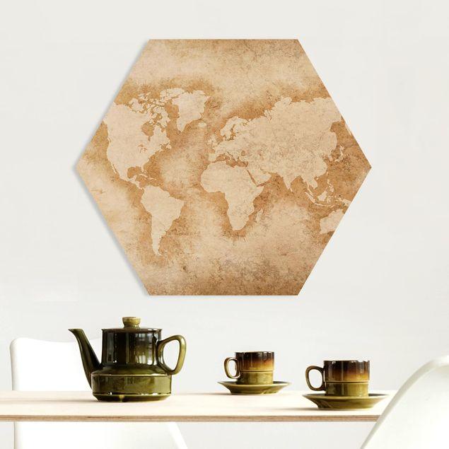 Hexagon Bild Forex - Antike Weltkarte