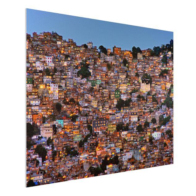 Forex Fine Art Print - Rio de Janeiro Favela Sonnenuntergang - Querformat 3:4