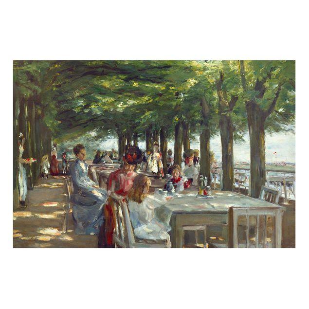 Magnettafel - Max Liebermann - Terrasse des Restaurants Jacob - Memoboard Querformat 2:3