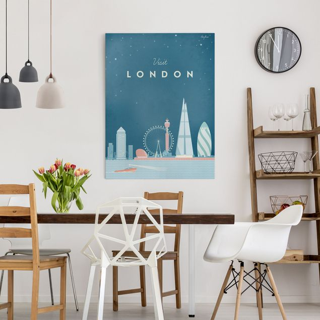 Leinwandbild - Reiseposter - London - Hochformat 4:3