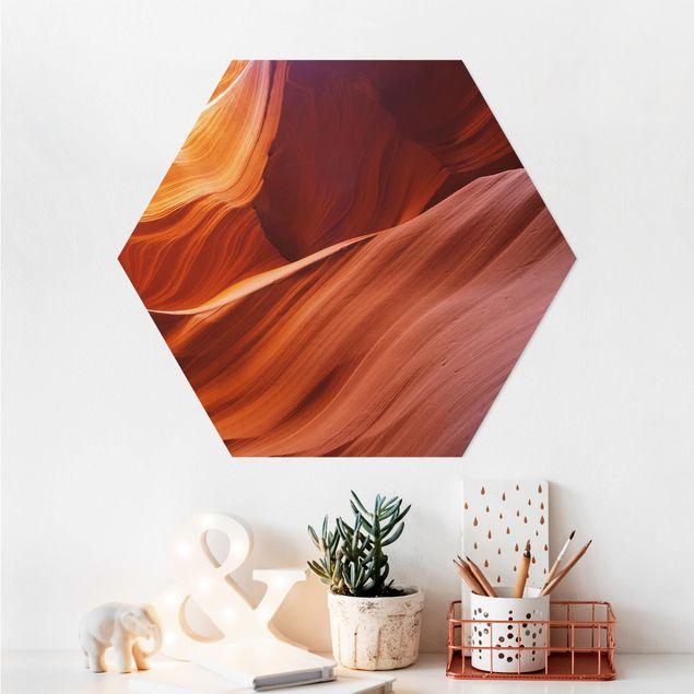 Hexagon Bild Alu-Dibond - Inner Canyon