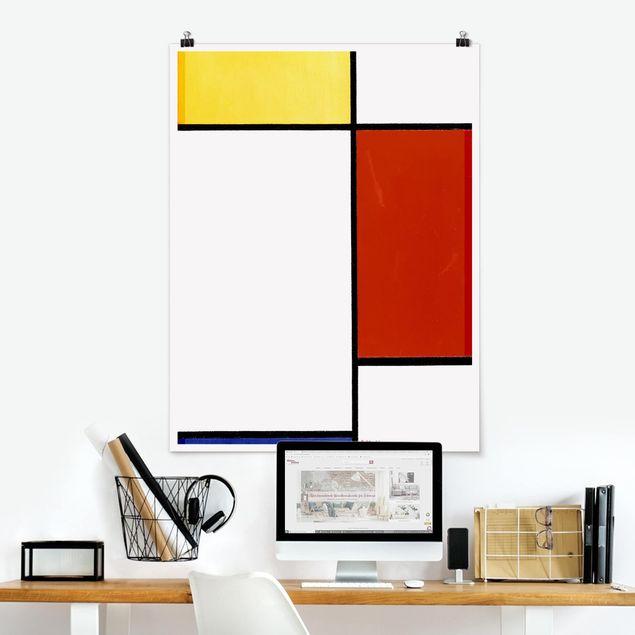 Poster - Piet Mondrian - Komposition I - Hochformat 3:4
