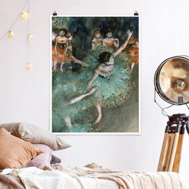 Poster - Edgar Degas - Tänzerinnen in Grün - Hochformat 3:4