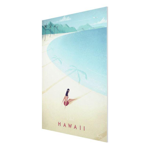 Forex Fine Art Print - Reiseposter - Hawaii - Hochformat 4:3