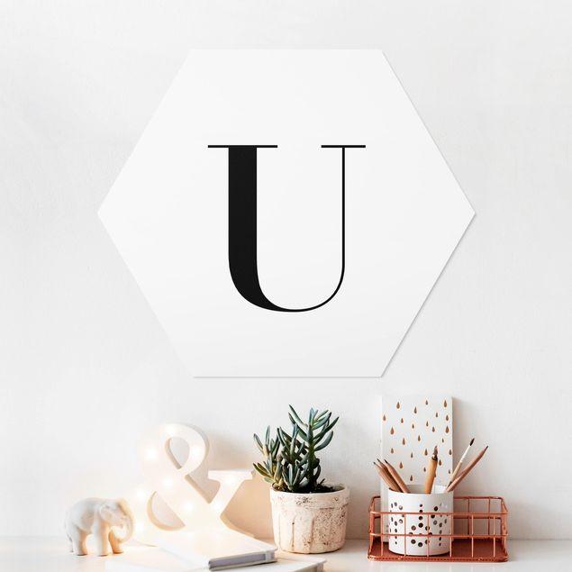 Hexagon Bild Forex - Buchstabe Serif Weiß U
