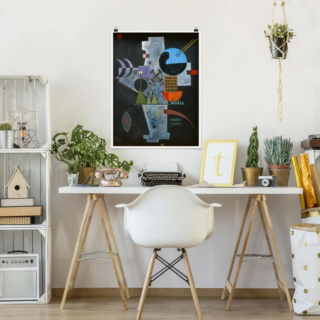 Poster - Wassily Kandinsky - Kreuzform - Hochformat 3:4