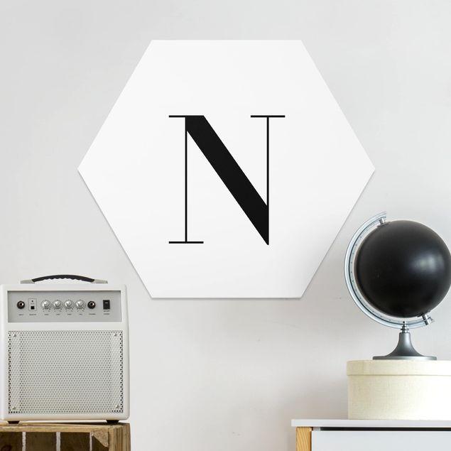 Hexagon Bild Forex - Buchstabe Serif Weiß N