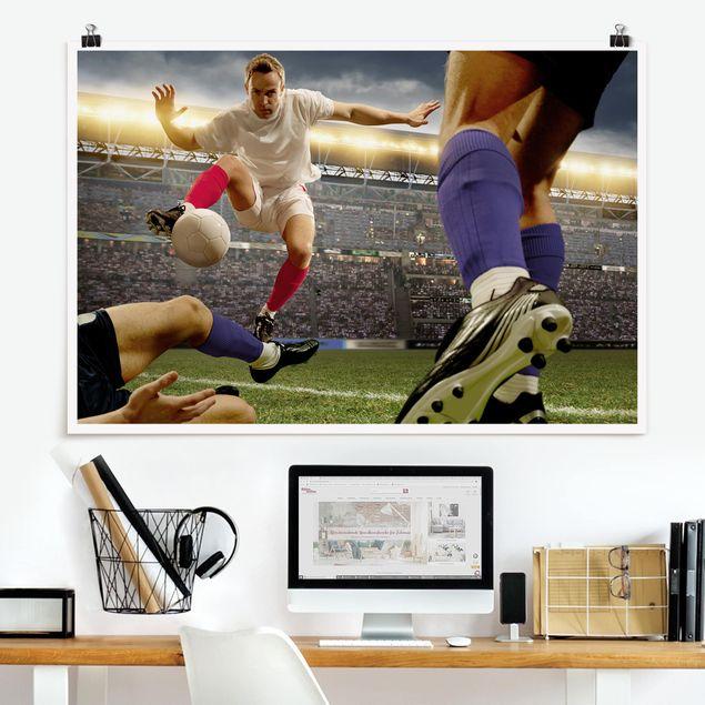 Poster - Fußballtaktik - Querformat 2:3