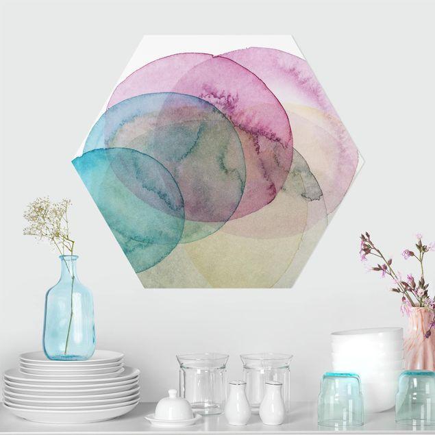 Hexagon Bild Forex - Urknall - rosa