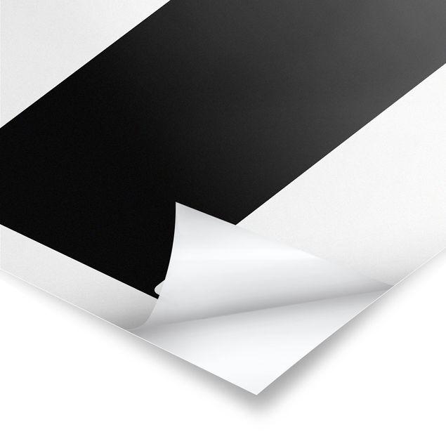 Poster - Antiqua Letter T - Hochformat 3:4