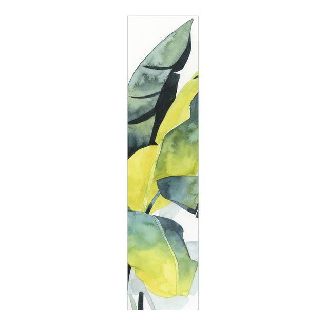 Schiebegardinen Set - Tropisches Blattwerk - Banane - Flächenvorhang