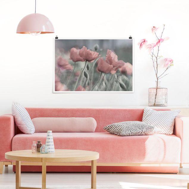 Poster - Malerische Mohnblumen - Querformat 2:3