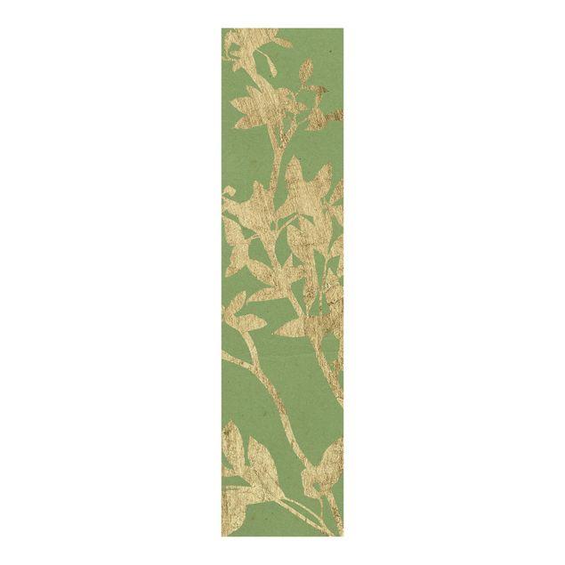 Schiebegardinen Set - Goldene Blätter auf Lind II - Flächenvorhang