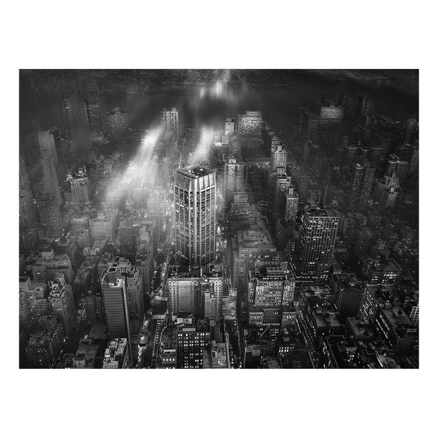 Forex Fine Art Print - Sonnenlicht über New York City - Querformat 3:4