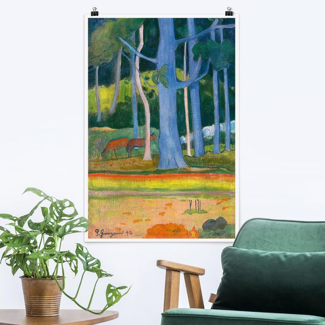 Poster - Paul Gauguin - Waldlandschaft - Hochformat 3:2