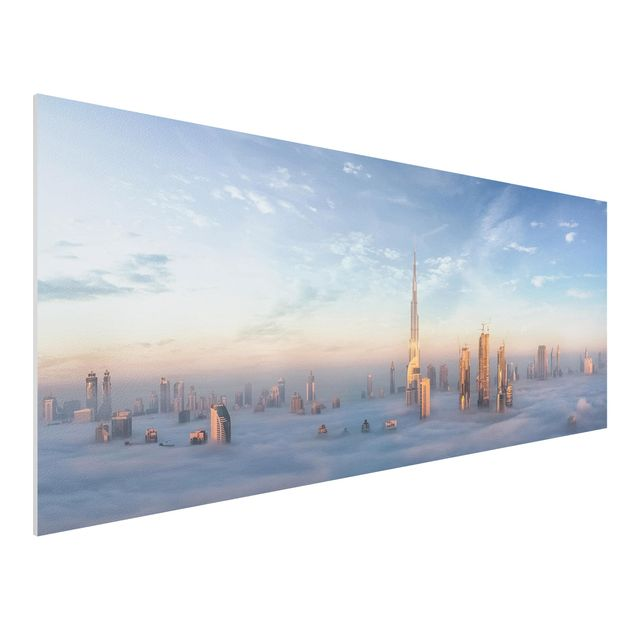 Forex Fine Art Print - Dubai über den Wolken - Panorama