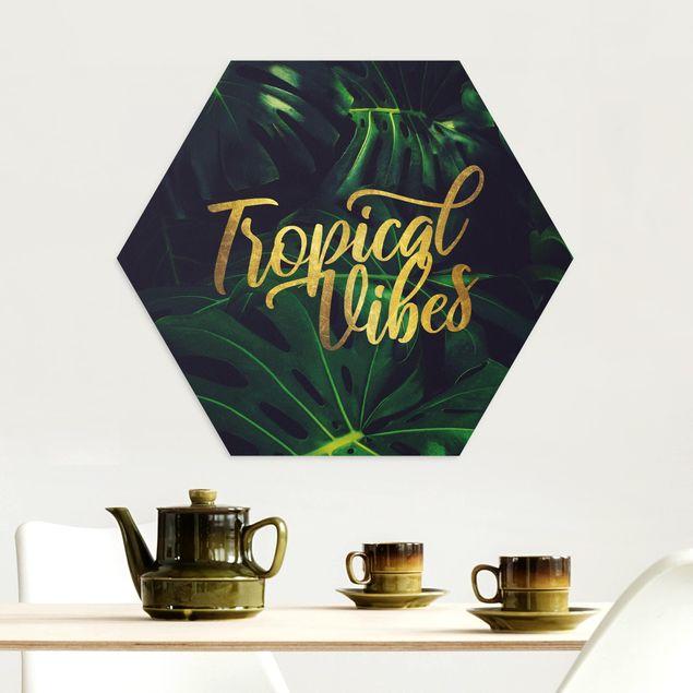 Hexagon Bild Alu-Dibond - Dschungel - Tropical Vibes