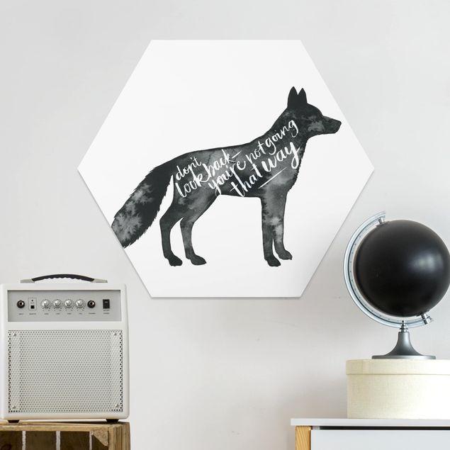 Hexagon Bild Forex - Tiere mit Weisheit - Fuchs