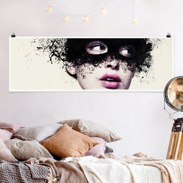 Poster - Das Mädchen mit der schwarzen Maske - Panorama Querformat