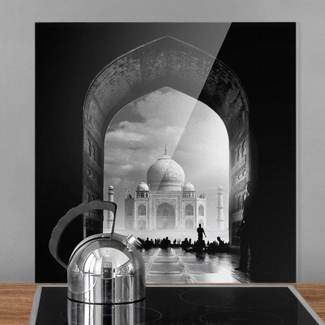 Glas Spritzschutz - Das Tor zum Taj Mahal - Quadrat - 1:1