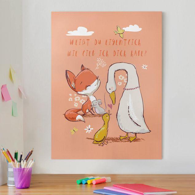 Leinwandbild - Weißt du eigentlich wie lieb ich dich habe - Hochformat 4:3