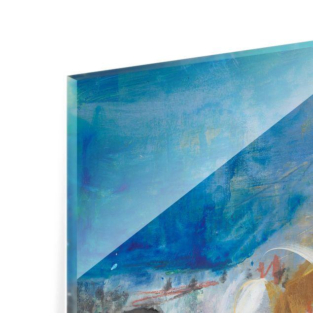 Glas Spritzschutz - Wechselspiel Abstrakt II - Quadrat - 1:1