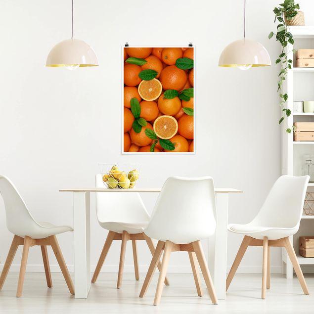 Poster - Saftige Orangen - Hochformat 3:2