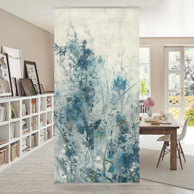 Raumteiler - Blaue Frühlingswiese I - 250x120cm