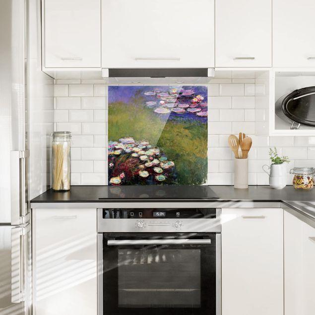 Glas Spritzschutz - Claude Monet - Seerosen - Quadrat - 1:1