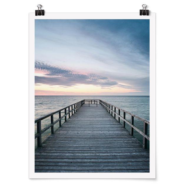 Poster - Steg Promenade - Hochformat 3:4