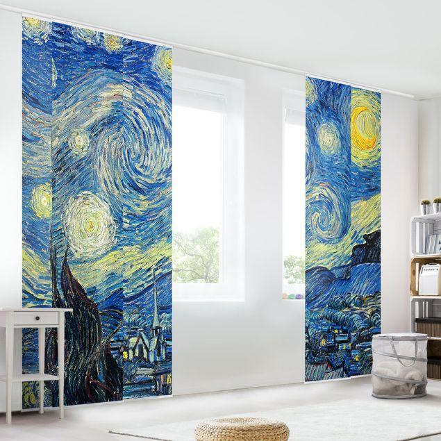 Schiebegardinen Set - Vincent van Gogh - Sternennacht - 5 Flächenvorhänge