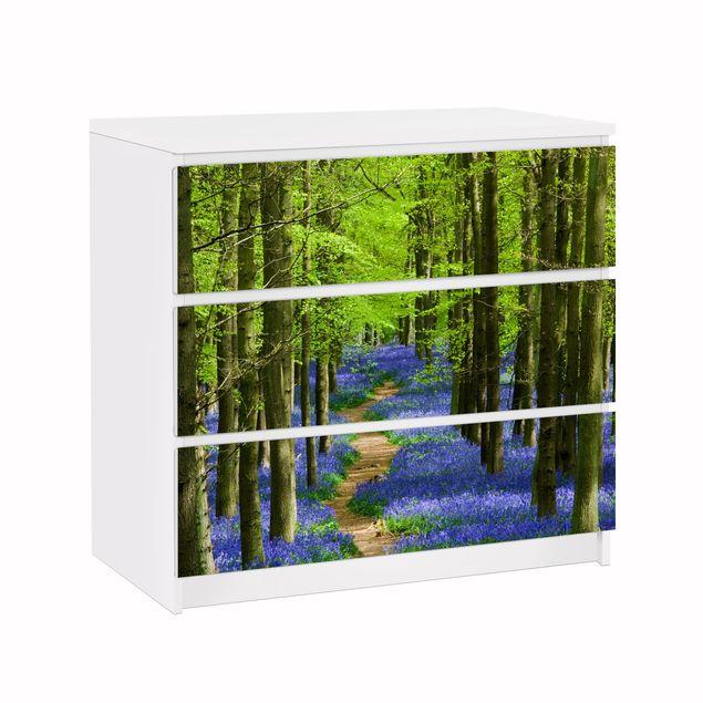 Möbelfolie für IKEA Malm Kommode - Klebefolie Wanderweg in Hertfordshire