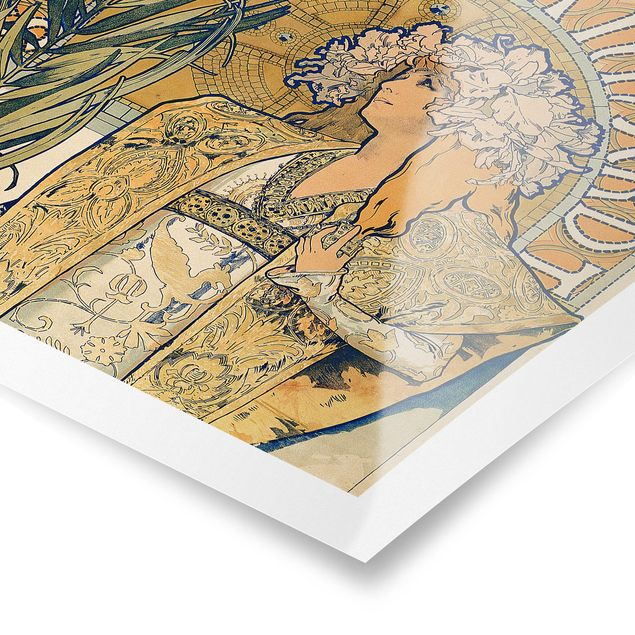 Poster - Alfons Mucha - Plakat für Theaterstück Gismonda - Hochformat 3:2