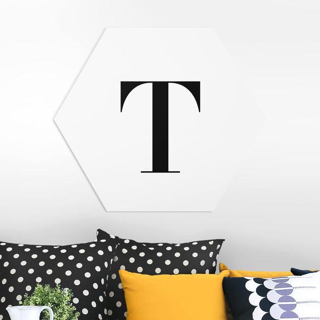 Hexagon Bild Forex - Buchstabe Serif Weiß T