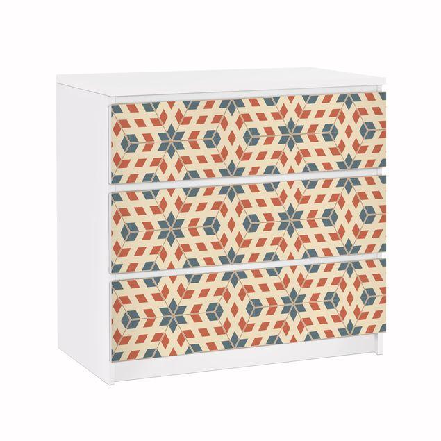 Möbelfolie für IKEA Malm Kommode - Klebefolie Pop Art Design