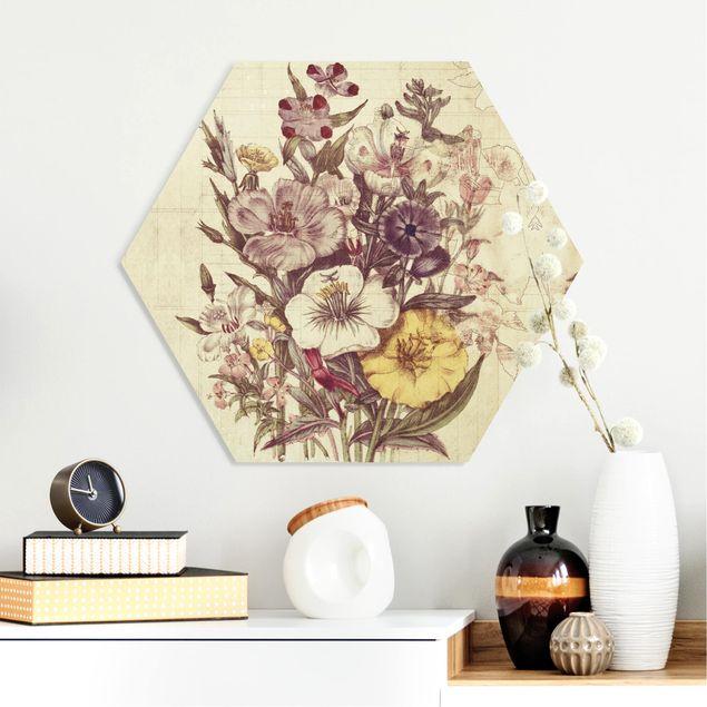 Hexagon Bild Forex - Vintage Letter Blumenstrauss