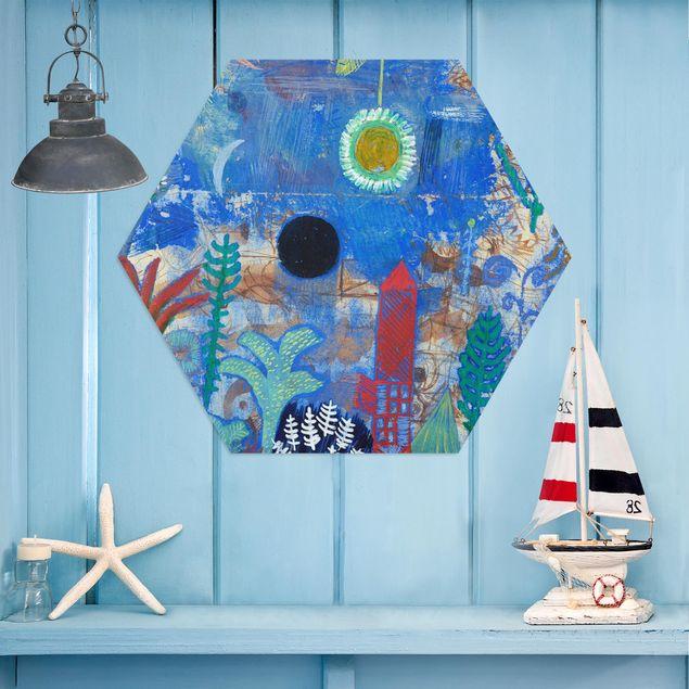 Hexagon Bild Alu-Dibond - Paul Klee - Versunkene Landschaft