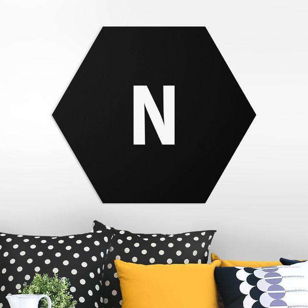 Hexagon Bild Forex - Buchstabe Schwarz N