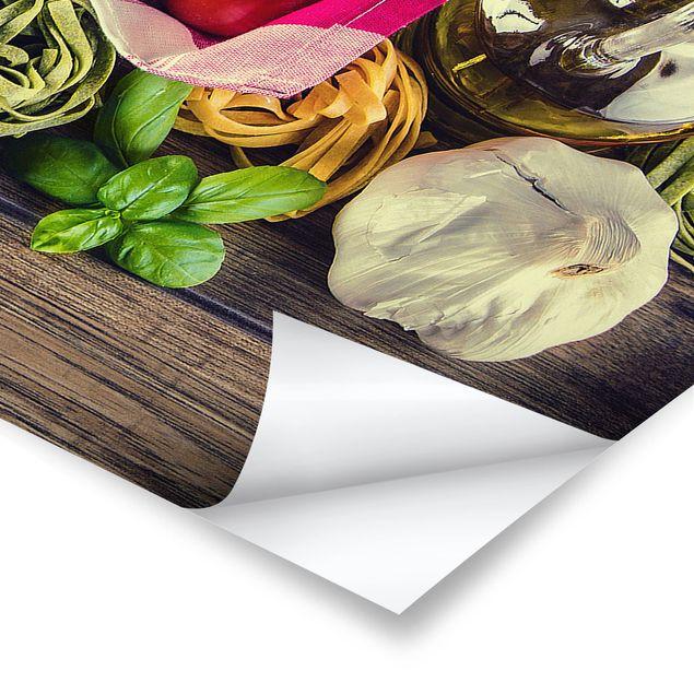 Poster - Pasta - Panorama Querformat