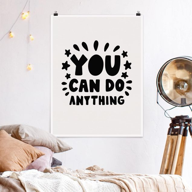 Poster - You can do anything - Hochformat 3:4