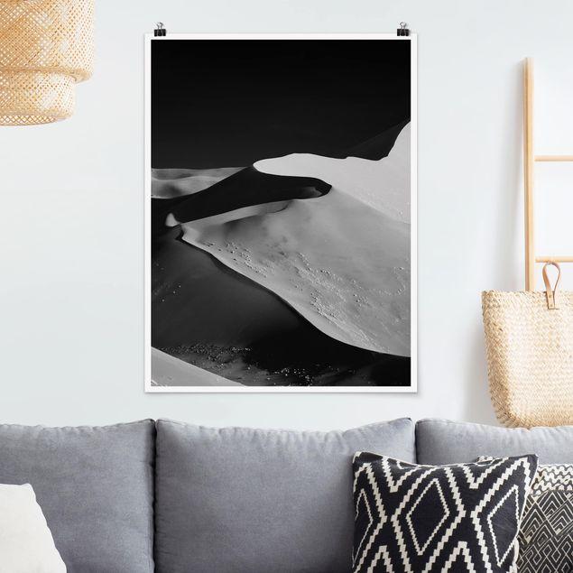 Poster - Wüste - Abstrakte Dünen - Hochformat 3:4