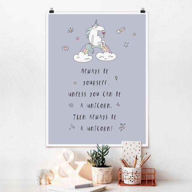 Poster - Always be yourself - Hochformat 3:4