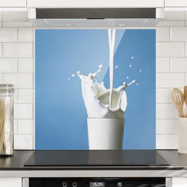 Glas Spritzschutz - Milk - Quadrat - 1:1