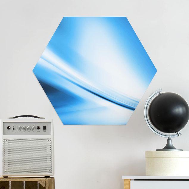 Hexagon Bild Alu-Dibond - Deep Blue Heaven