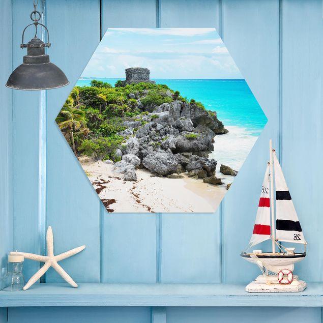 Hexagon Bild Forex - Karibikküste Tulum Ruinen