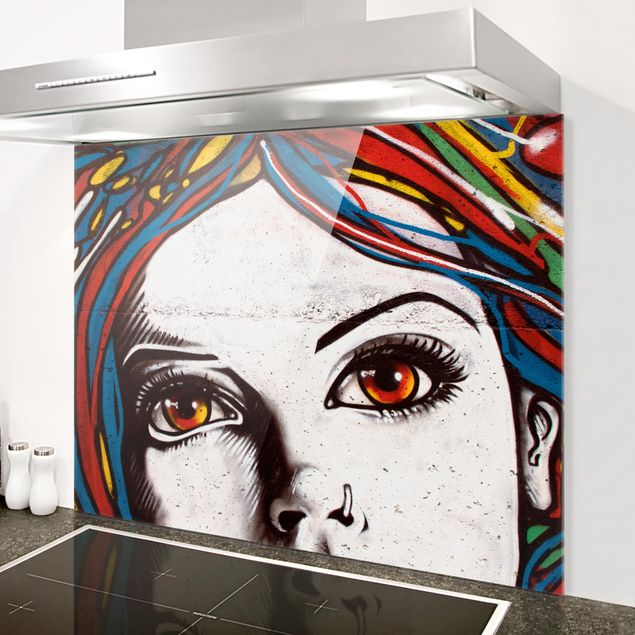 Glas Spritzschutz - Punk Graffiti - Querformat - 4:3